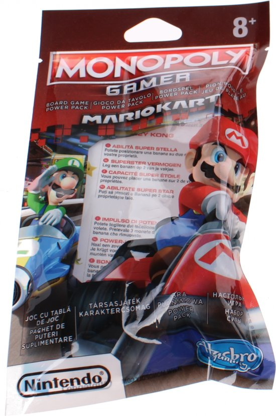 Hasbro Monopoly Gamer Mario Kart Power Packs 4 Cm Geel