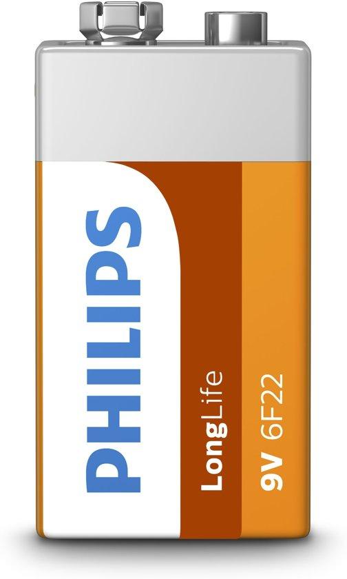 Philips 9V Longlife  1 stuk