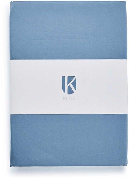 Kepri - Hoeslaken Satijn Faded Denim 90 x 210 cm