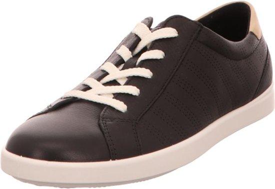 ECCO Leisure leren dames sneakers Zwart Maat 37