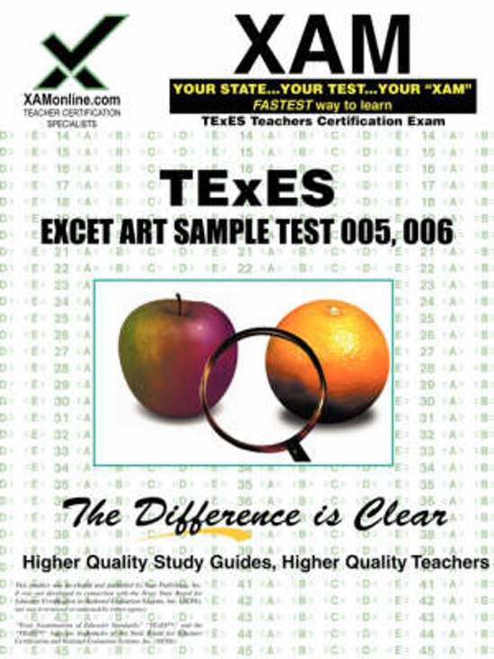 Bol Texes Ec 12 178 Art Sample Test Teacher Certification Test