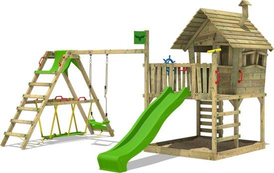 Speeltoestel Kleine Tuin : Bol.com fatmoose wackyworld mega xxl speeltoestel tuin met