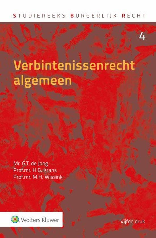 Verbintenissenrecht algemeen - G.T. de Jong
