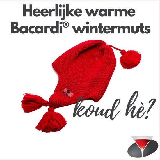 Heerlijke warme Bacardi wintermuts