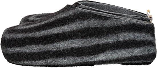 Hommes Pantoufles Feutrées Stripy Bleu - Taille 41 GRESiy3