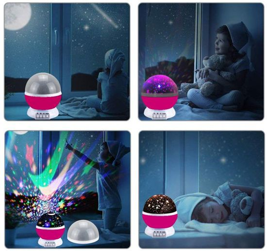 Nachtlampje Sterrenhemel verlichting kinderkamer roze - projector sterren - Snoezellampje - Kinder/baby nachtlamp -  Sterrenhemel Space Lamp roze- Star Moon Light Plafond - Roze