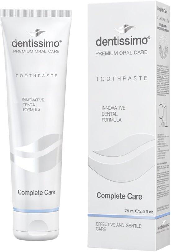 Dentissimo Complete Care Natuurlijke Tandpasta | Tegen gaatjes, tandvleesontsteking, gevoelige tanden en slechte adem