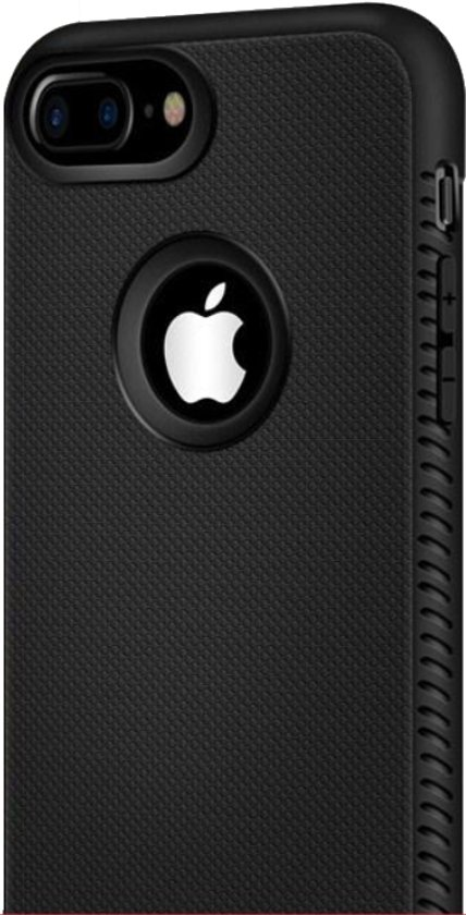 Luxe Extra Stevige TPU Case voor Apple iPhone 6 - iPhone 6s - Rugged Armor - Shockproof Back Cover - Zwart hoesje