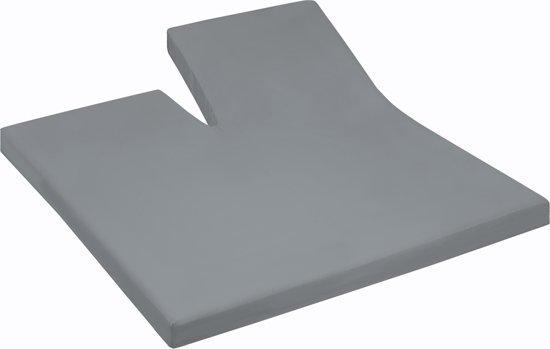 Damai - Hoeslaken split (tot 35 cm) - Katoen - 180 x 220 cm - Grey
