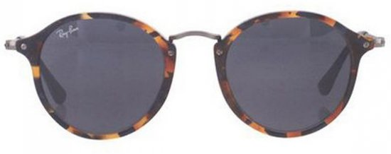 f9edaa1f5fed5c Ray-Ban RB2447 1158R5 - zonnebril - Round Fleck - Tortoise Staalgrijs -  Blauw