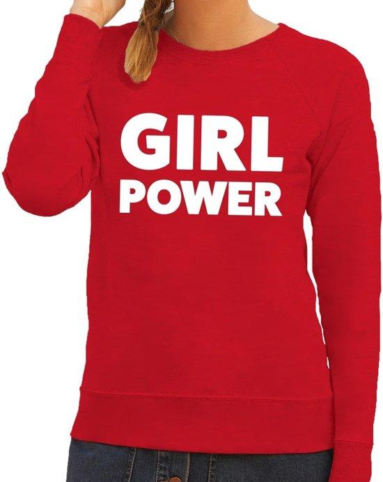 Girl Power tekst sweater rood voor dames S