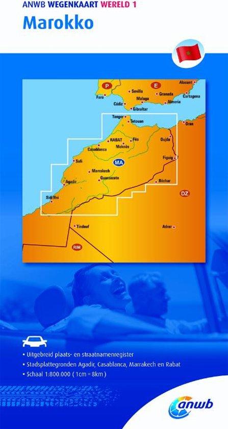 ANWB wegenkaart - Marokko