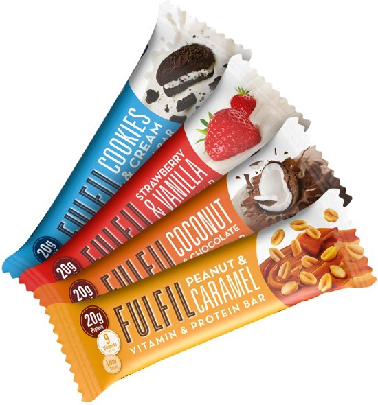 Fulfil Nutrition Vitamin & Protein Bars - Eiwitreep - 1 box (15 eiwitrepen) - White Chocolate Cookie Dough