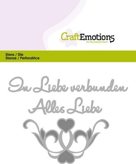 CraftEmotions Mal Tekst - Alles Liebe Duits  Card 11x9cm