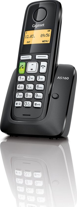 Gigaset AS160 - Single DECT telefoon - Zwart
