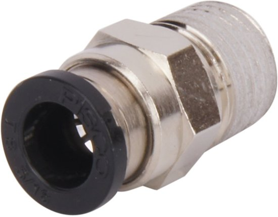 6mmxM6 Rechte Inschroefkoppeling - PC6-M6