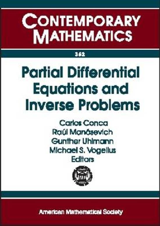 Partial Differential Equations and Inverse Problems
