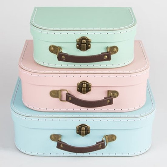 Sass & Belle | Kofferset Pastel kleuren (3-delig)