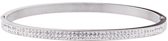 Kywi-Armband Shiny Stones RVS zilverkleurig