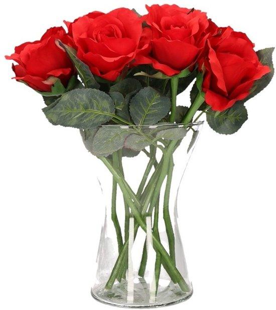 Rozen In Vaas.Bol Com Valentijnscadeau 8 Rode Rozen In Vaas