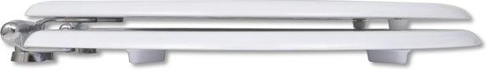 vidaXL WC-bril met soft-close MDF deksel en eenvoudig ontwerp wit