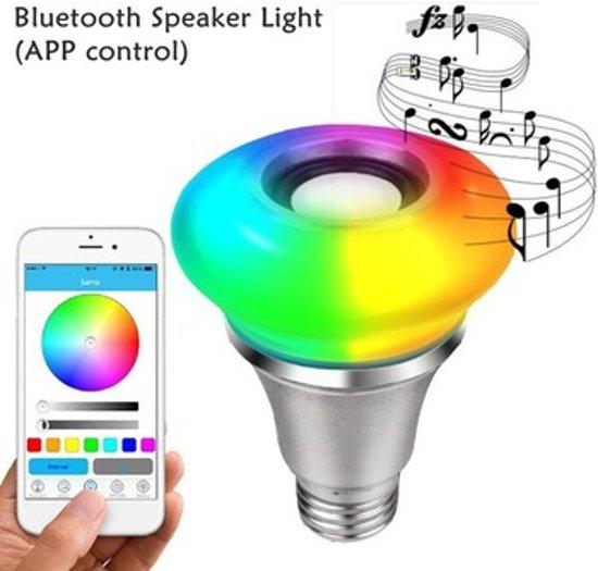 REMOTE-CONTROLLED MUSIC LED-LAMP – MET AFSTANDSBEDIENINGSPANEEL – 5W RGB+ 3W BLUETOOTH SPEAKER - Voordeelset 3 stuks