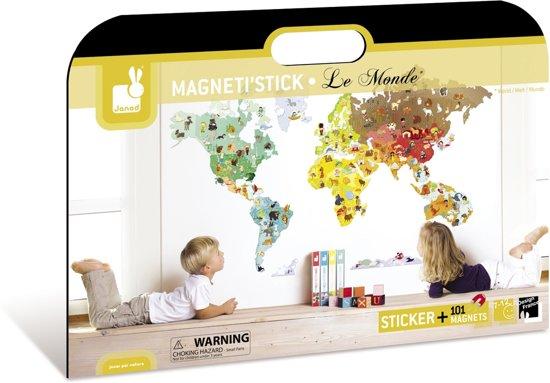 Extreem bol.com | Janod Muursticker Wereld Magnetisch &ZV09