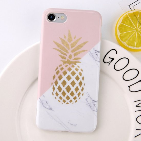 Marmer Pineapple TPU Apple iPhone 6 / 6s Hoesje