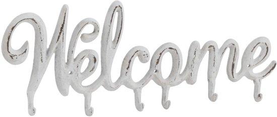 J-line Kapstok Welcome - Metaal Wit 47 cm