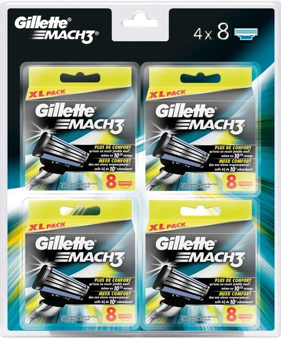 Gillette Mach 3 scheermesjes - 32 stuks