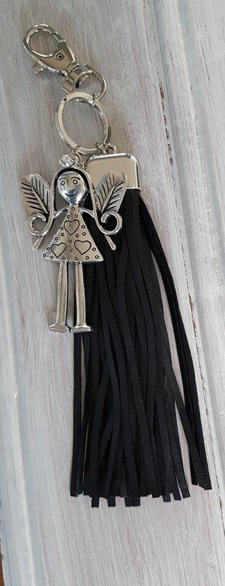Tas/ sleutelhanger zwart