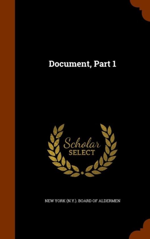Document, Part 1