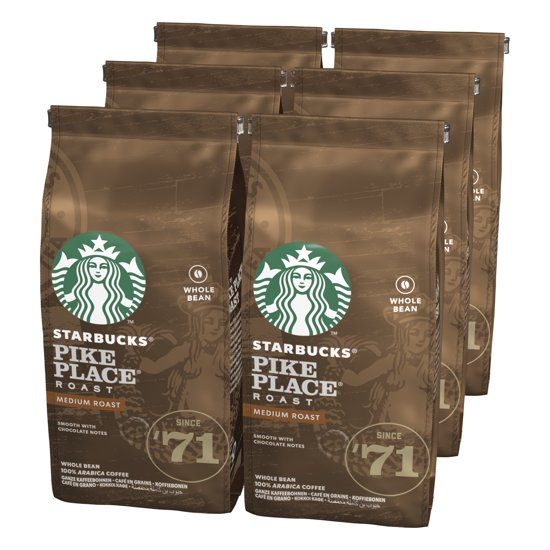 Starbucks® Pike Place® Medium Roast Koffiebonen - 6 x 200 gram