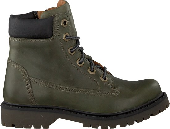Braqeez Jongens Veterboots Bas Boot - Groen - Maat 28