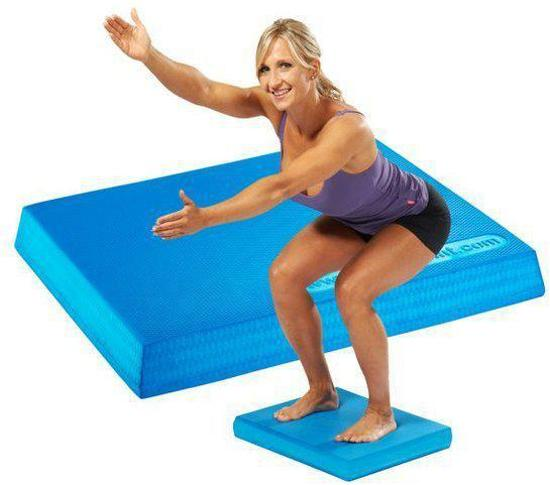 Trendy Sport - Bamusta Cuatro - Balans pad - 9000B - 47 x 38 x 6 cm dik - Blauw - 200 kg belastbaar