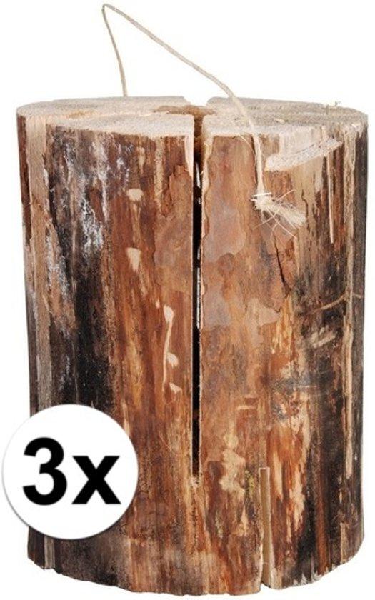3x zweedse fakkel 20 x 10 cm