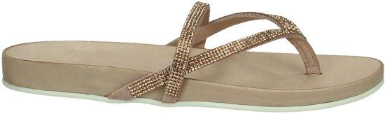 Inuovo - 6056 - Elegante slipper - Dames - Maat 38 - Roze - Blush Leather/Peach Strass