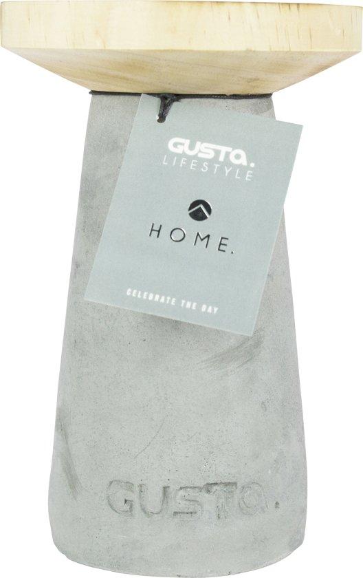 Gusta Kandelaar ø12xH18cm Cement/Hout