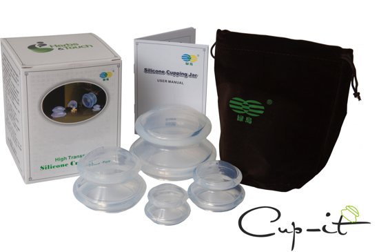 Cup-it – Cellulite cups – Anti Cellulite Cups – Vacuüm Massage Cups – Silicone Cupping Set – Transparant – 4 delig – De Originele Cellulite Cups
