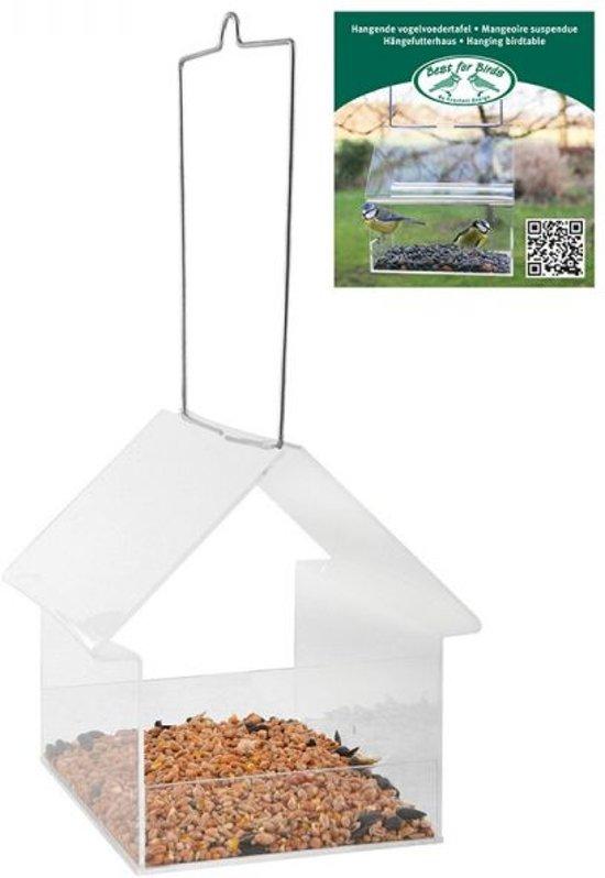 Esschert Design UNO - Vogelvoederhuisje - Transparant - 15 cm x 15 cm x 15 cm