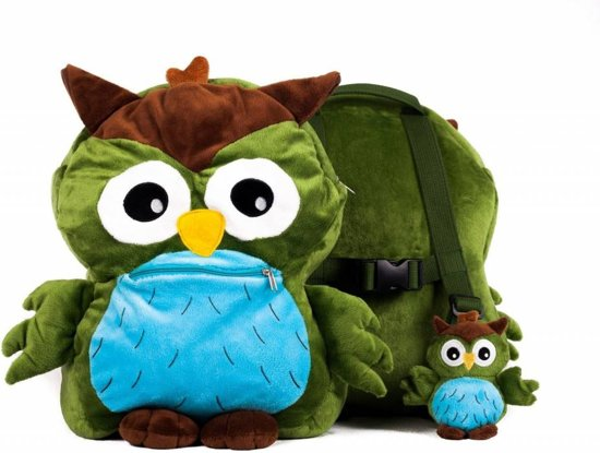 My Teddy -  Uilen rugzak  - Groen