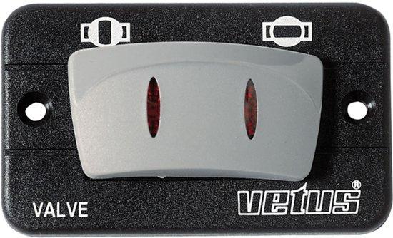 Bedieningspaneel voor Elektr. Afsluiters VETUS MV serie 24 Volt