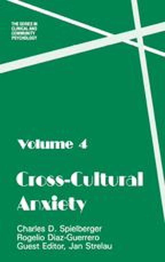 Boek cover Cross Cultural Anxiety van Charles D. Spielberger (Onbekend)