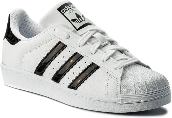 adidas - Dames Sneakers Superstar J - Wit - Maat 36 2/3