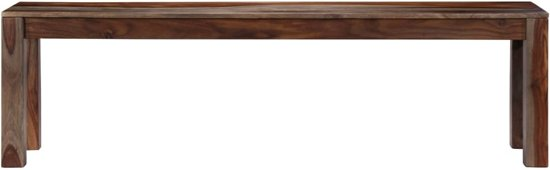 vidaXL Bankje 160 cm massief sheeshamhout grijs