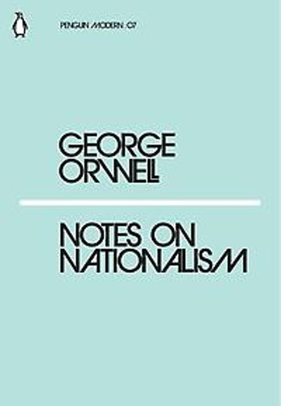 Boek cover Notes on Nationalism van George Orwell (Paperback)