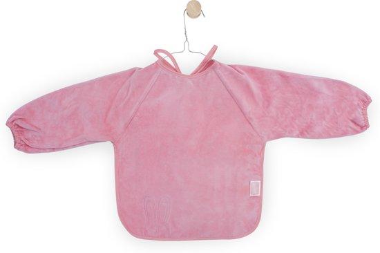 Jollein Sweet bunny slab met mouw velvet terry coral pink