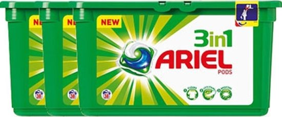 Ariel 3 in 1 Pods Regular - 3 x 38 wasbeurten - Wasmiddel