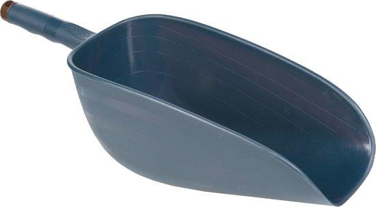 HKM Voerschep groot 29x14x12 cm ca. 2 liter blauw