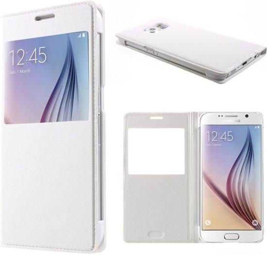Samsung Galaxy S6 Window View Hoesje Wit